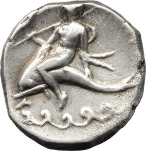 reverse: Southern Apulia, Tarentum. AR Nomos, circa 272-240 BC