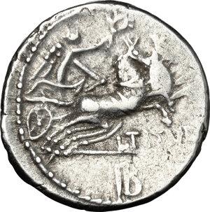 reverse: L. Titurius L. f. Sabinus.. AR Denarius, 89 BC
