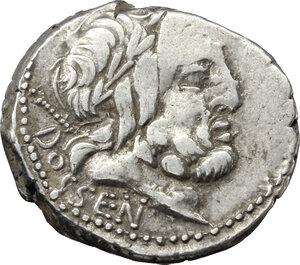 obverse: L. Rubrius Dossenus.. AR Denarius, 87 BC