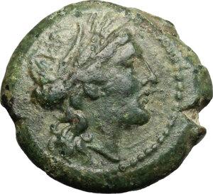 obverse: Lucania, Poseidonia-Paestum. AE Sextans. Second Punic War, 218-201 BC