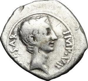 obverse: Augustus (27 BC - 14 AD).. AR Quinarius, Asia Minor mint, 29-26 BC