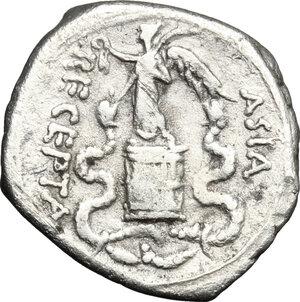 reverse: Augustus (27 BC - 14 AD).. AR Quinarius, Asia Minor mint, 29-26 BC