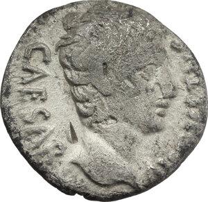 obverse: Augustus (27 BC - 14 AD).. AR Denarius, Spain, 19 BC
