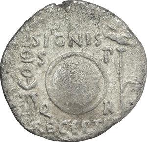 reverse: Augustus (27 BC - 14 AD).. AR Denarius, Spain, 19 BC