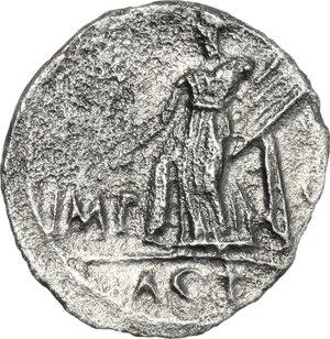 reverse: Augustus (27 BC - 14 AD).. AR Denarius, 15 BC. Lugdunum mint
