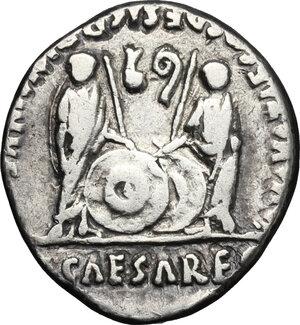 reverse: Augustus (27 BC - 14 AD).. AR Denarius, Lugdunum mint, 2 BC - 4 AD