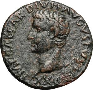 obverse: Augustus (27 BC - 14 AD).. AE As, 11-12