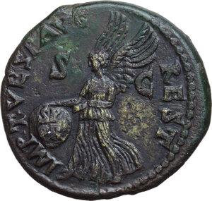 reverse: Augustus (27 BC - 14 AD).. AE Dupondius, struck under Titus, 81 AD