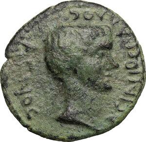 obverse: C. Asinius Gallus. Proconsul of Asia (6-5 BC).. AE 17 mm, Temnos mint, Aeolis
