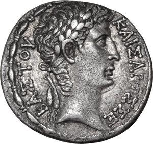 obverse: Augustus (27 BC - 14 AD).. AR Tetradrachm, Antioch ad Orontes mint, Syria, 1 AD