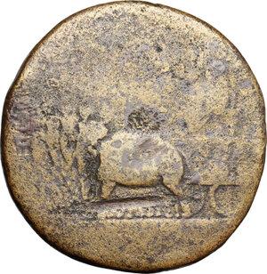 obverse: Tiberius (14-37).. AE Sestertius, 36-37