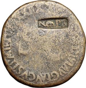 reverse: Tiberius (14-37).. AE Sestertius, 36-37