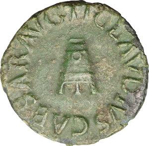 obverse: Claudius (41-54).. AE Quadrans, 41-54
