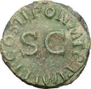 reverse: Claudius (41-54).. AE Quadrans, 41-54