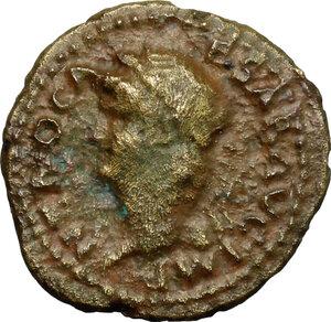 obverse: Nero (54-68).. AE Semis, 62-68