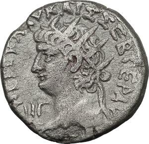 obverse: Nero (54-68) with Divus Augusts. BI Tetradrachm, Alexandria mint