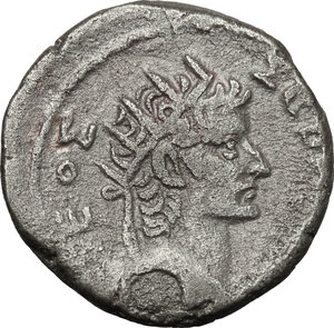 reverse: Nero (54-68) with Divus Augusts. BI Tetradrachm, Alexandria mint