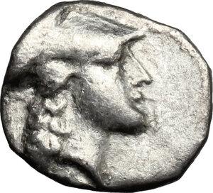 obverse: Southern Lucania, Metapontum. AR Diobol, 315-275 BC