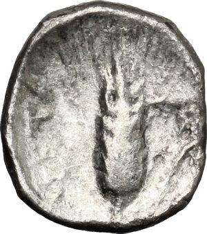 reverse: Southern Lucania, Metapontum. AR Diobol, 315-275 BC