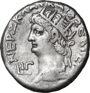 obverse: Nero (54-68).. BI Tetradrachm, Alexandria mint, 66-67