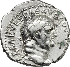 obverse: Vespasian (69-79).. AR Denarius, uncertain mint in Asia Minor, c. 70-74 AD