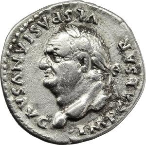 obverse: Vespasian (69-79).. AR Denarius, 77-78 AD