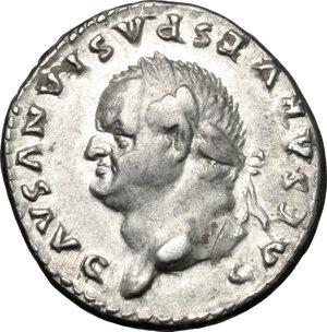 obverse: Vespasian (69-79).. AR Denarius 77-78