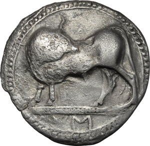 obverse: Southern Lucania, Sybaris. AR Incuse Stater, 550-510 BC