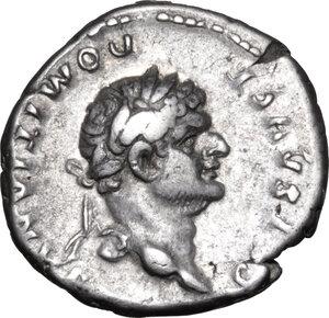 obverse: Domitian as Caesar (69-81).. AR Denarius, 76-77