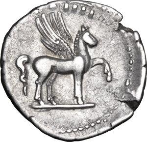 reverse: Domitian as Caesar (69-81).. AR Denarius, 76-77