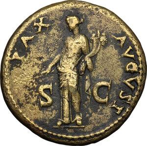 reverse: Domitian as Caesar (69-81).. AE Sestertius, struck under Titus, 80-81 AD. Rome mint