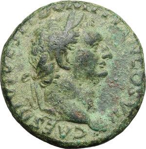 obverse: Domitian as Caesar (69-81).. AE As, 80-81