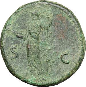 reverse: Domitian as Caesar (69-81).. AE As, 80-81