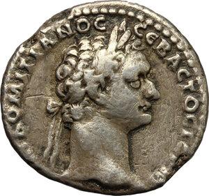 obverse: Domitian (81-96).. AR Didrachm, Caesarea mint, Cappadocia. RY 13= 93-94 AD