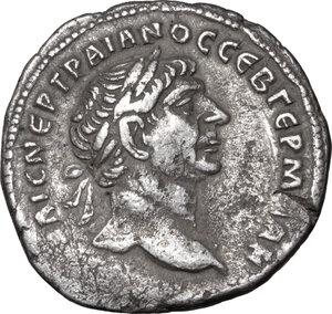 obverse: Trajan (98-117.).. BI Tetradrachm, Syria, Seleucis and Piera, Antioch mint, 110-111