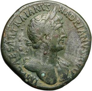 obverse: Hadrian (117-138).. AE Sestertius, 118 AD