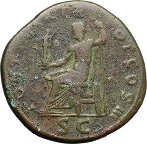 reverse: Hadrian (117-138).. AE Sestertius, 118 AD