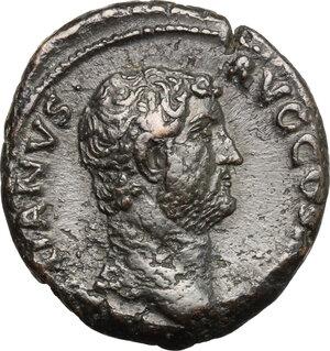 obverse: Hadrian (117-138).. AE As, 134-138