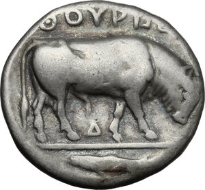 reverse: Southern Lucania, Thurium. AR Stater, 443-400 BC