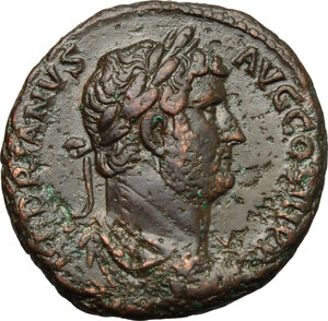 obverse: Hadrian (117-138).. AE As, c.134-138 AD, Rome mint