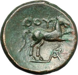 reverse: Southern Lucania, Thurium. AE 14 mm. c. 280-260 BC