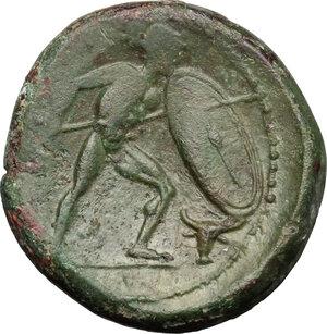 reverse: Bruttium, Brettii. AE Unit, 211-208 BC