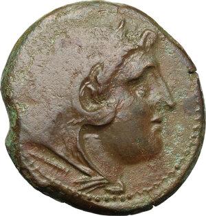 obverse: Bruttium, Brettii. AE Double Unit (Didrachm), c. 211-208 BC. Fourth coinage
