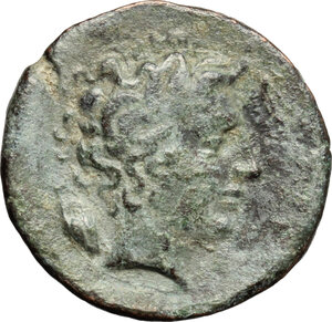 reverse: Gela. AE Trias, 420-405 BC