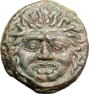 obverse: Kamarina. AE Tetras, 420-410 BC