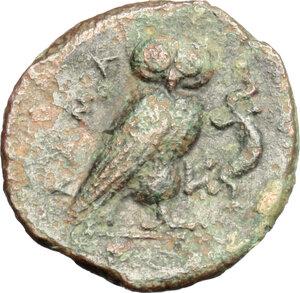 reverse: Kamarina. AE Tetras, 420-410 BC