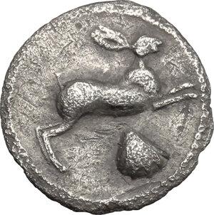 obverse: Messana. AR Litra, c. 420-413 BC
