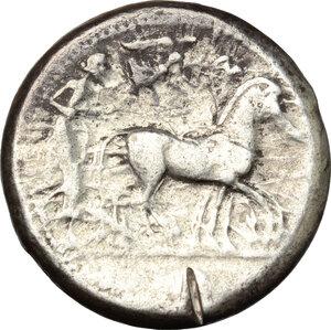 obverse: Syracuse.  Deinomenid Tyranny (485-466 BC).. AR Tetradrachm, 475-470 BC