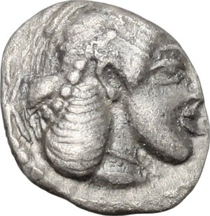 obverse: Syracuse.  Deinomenid Tyranny (485-466 BC).. AR Obol