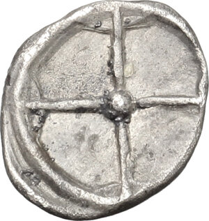 reverse: Syracuse.  Deinomenid Tyranny (485-466 BC).. AR Obol
